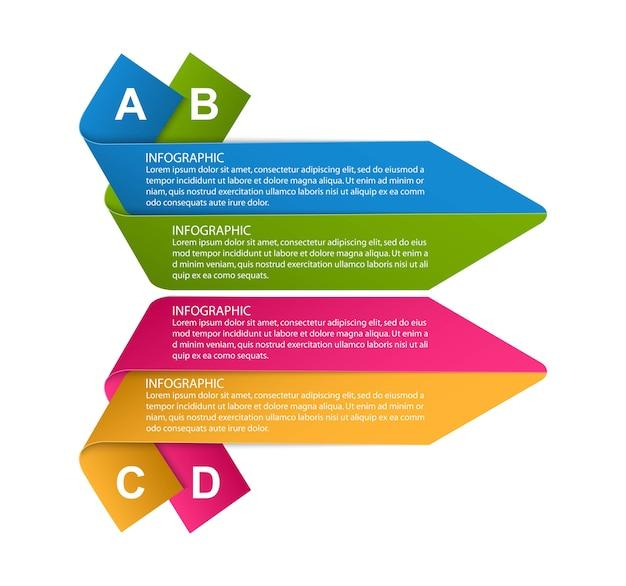 Opcje Plansza, Oś Czasu, Szablon Projektu Do Prezentacji Biznesowych. Premium Wektorów