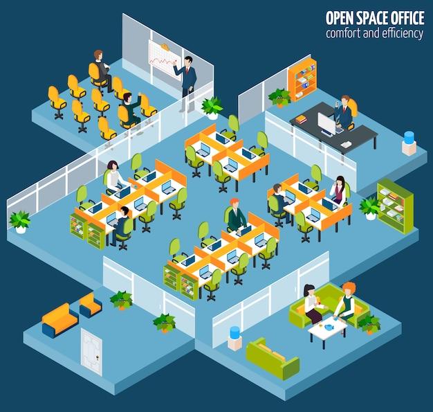 Open space office Darmowych Wektorów