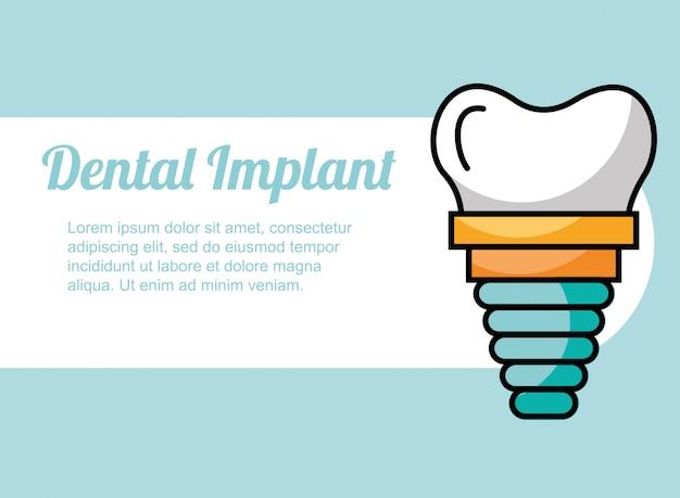 Opieka Nad Implantami Dentystycznymi Premium Wektorów