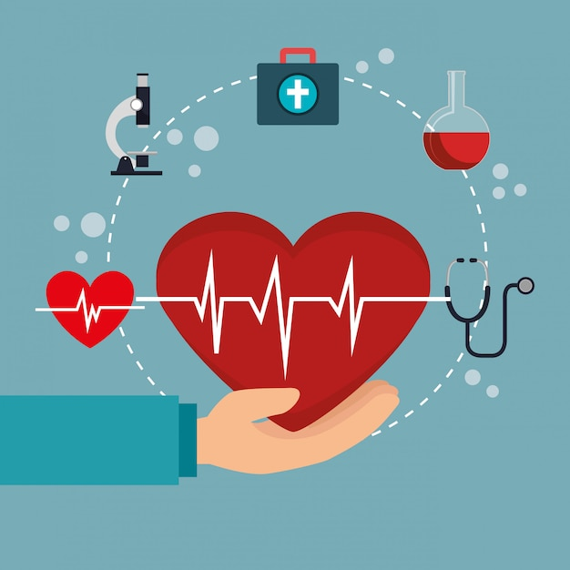 Opieki medycznej z zestaw ikon Premium Wektorów