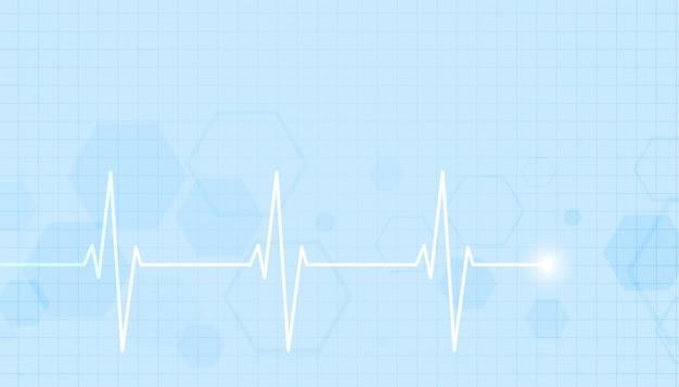 Opieki Zdrowotnej I Medycznej Z Linii Tętna Darmowych Wektorów