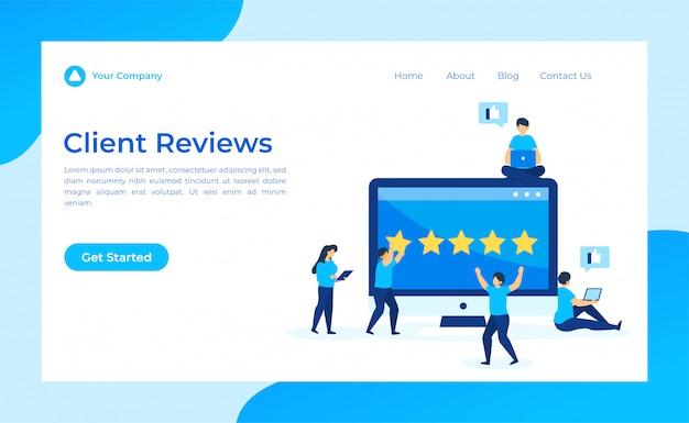 Opinie Klientów Landing Page Premium Wektorów