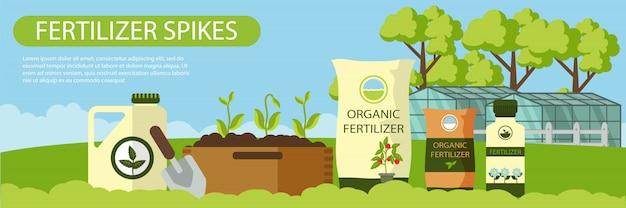 Organiczne Kolce Nawozowe Poziome Płaskie Transparent. Premium Wektorów