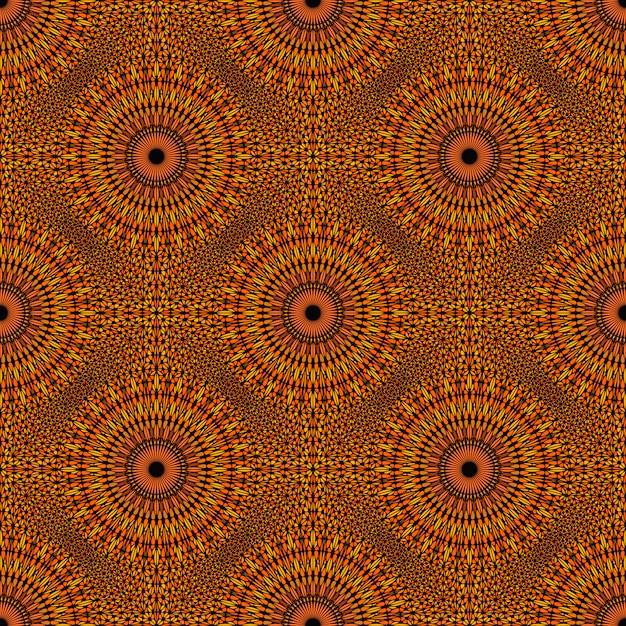 Orientalna Abstrakcjonistyczna Mandala Wzoru Tła Sztuka Premium Wektorów