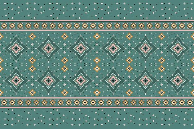 Orientalny Wzór Geometryczny Etniczne. Wzór Dla Tkaniny, Tła, Tapety Premium Wektorów