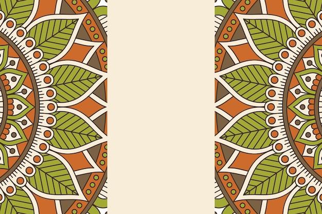 Ornament Piękne Tło Element Geometryczny Koło Wykonane W Wektorze Darmowych Wektorów