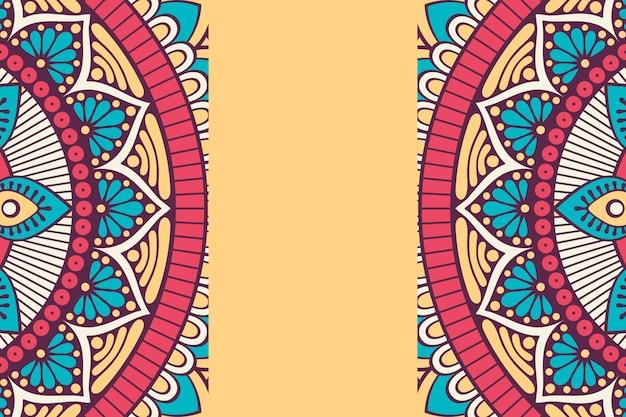 Ornament Piękne Tło Element Geometryczny Koło Wykonane W Wektorze Premium Wektorów