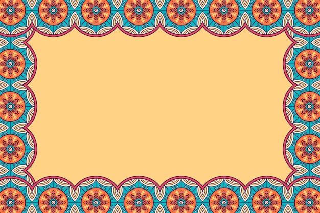 Ornament Piękne Tło Geometric Floral Frame Darmowych Wektorów