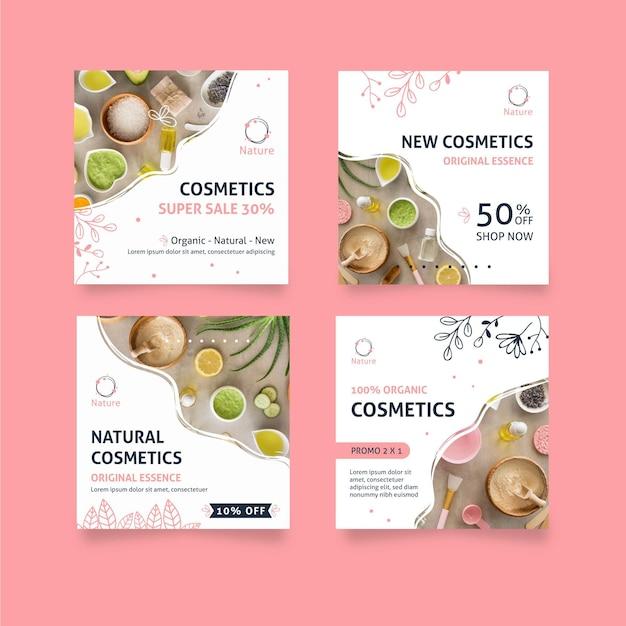 Oryginalne Posty Na Instagramie Essence Natural Cosmetics Darmowych Wektorów