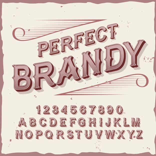 """Oryginalny Krój Pisma O Nazwie """"perfect Brandy"""". Darmowych Wektorów"""