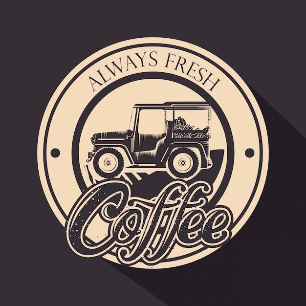 Oryginalny stempel kawowy z transportem Darmowych Wektorów