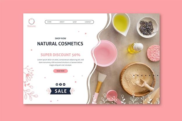 Oryginalny Szablon Strony Docelowej Kosmetyków Naturalnych Essence Darmowych Wektorów