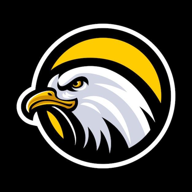Orzeł Głowa Maskotka Logo Wektor Premium Wektorów