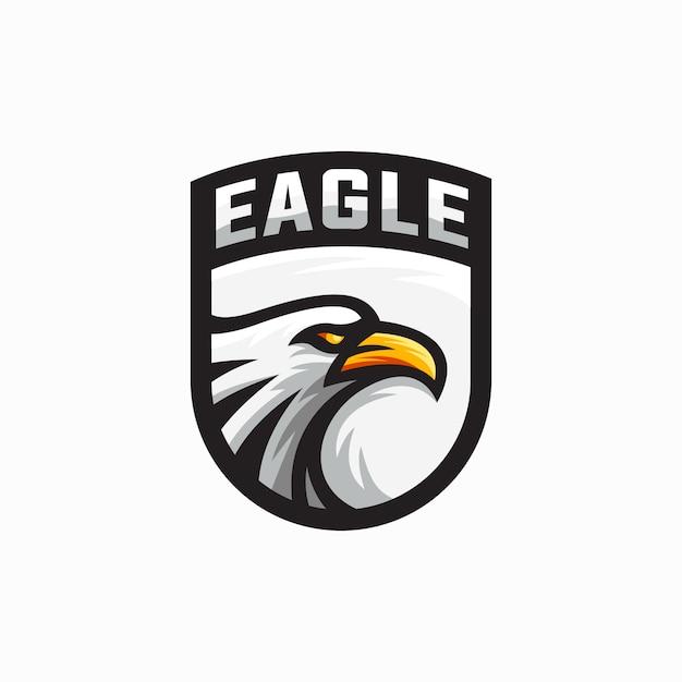 Orzeł Logo Maskotka Ilustracja Premium Wektorów