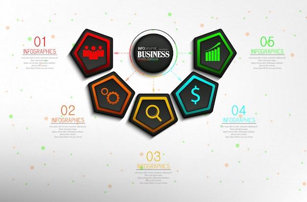 Oś Czasu Informacje Graficzne Dane Wizualizacja Szablon Projektu Premium Wektorów