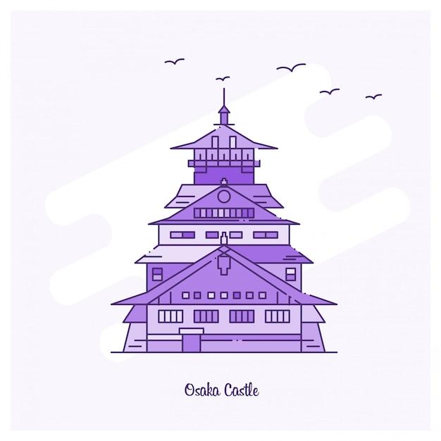 Osaka castle landmark Darmowych Wektorów