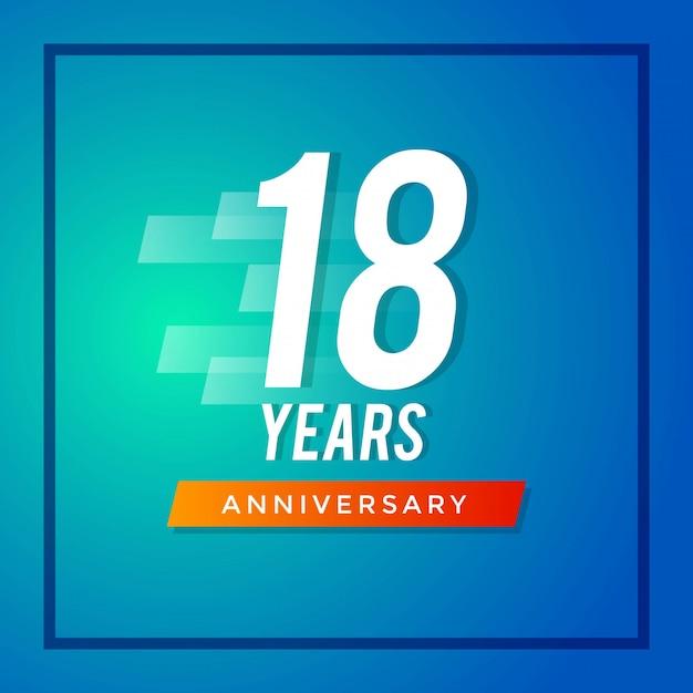 Osiemnasta rocznica Premium Wektorów