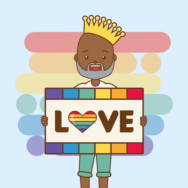 Osoba lgbt z forum miłości Darmowych Wektorów