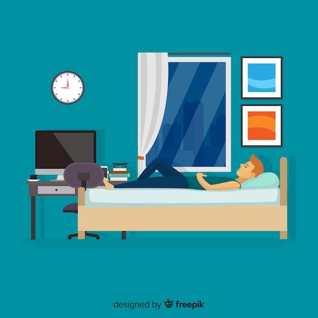 Osoba śpiąca Darmowych Wektorów