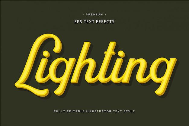 Oświetlenie 3d Efekt Złotego Tekstu - 3d Złoty Tekst Premium Wektorów