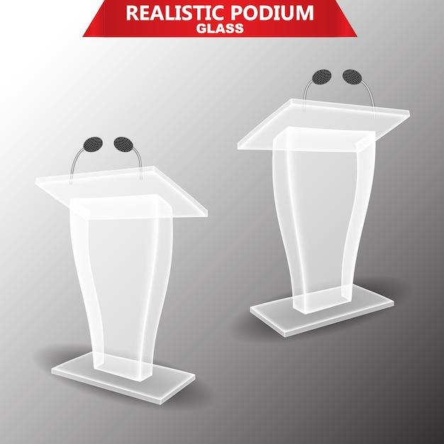 Oświetlenie Podiumglass Premium Wektorów