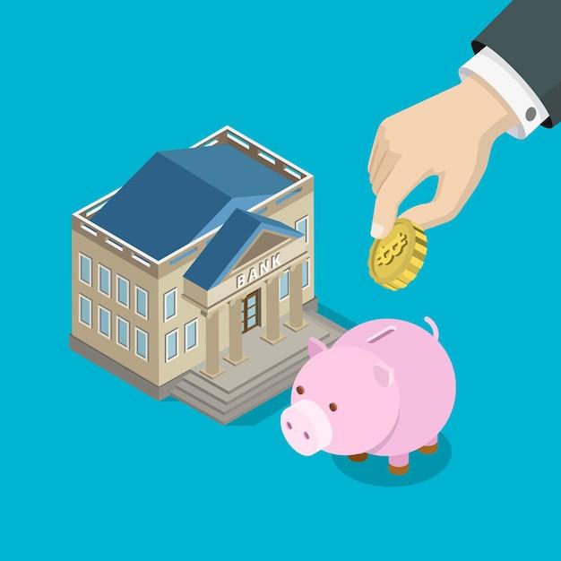 Oszczędności Inwestycyjne Bitcoin Płaskie Darmowych Wektorów