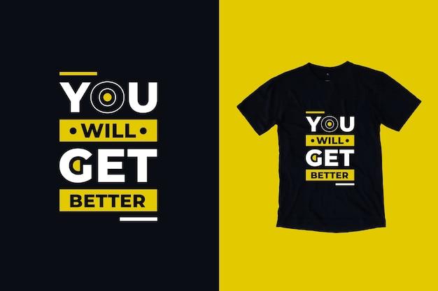 Otrzymasz Lepszy Cytat Z Projektu Koszulki Premium Wektorów