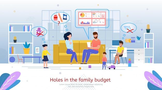 Otwory W Mieszkaniu Budżetu Rodzinnego Premium Wektorów