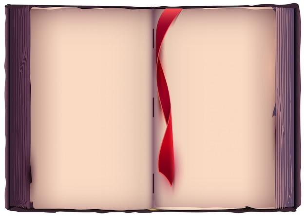 Otwórz Książkę Z Czerwoną Zakładką. Premium Wektorów