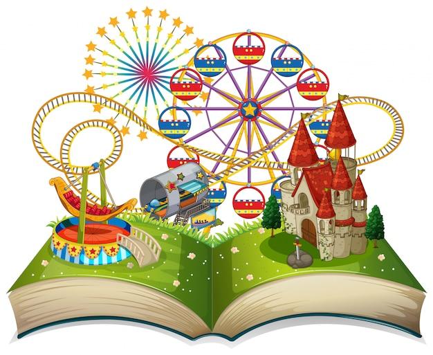 Otwórz motyw funpark książki Darmowych Wektorów