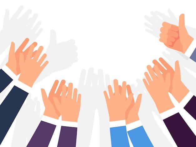 Owacje, Brawa I Gratulacje Sukcesu Premium Wektorów