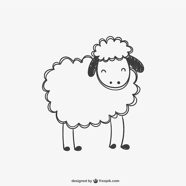 Owce bazgrołów wektora Darmowych Wektorów
