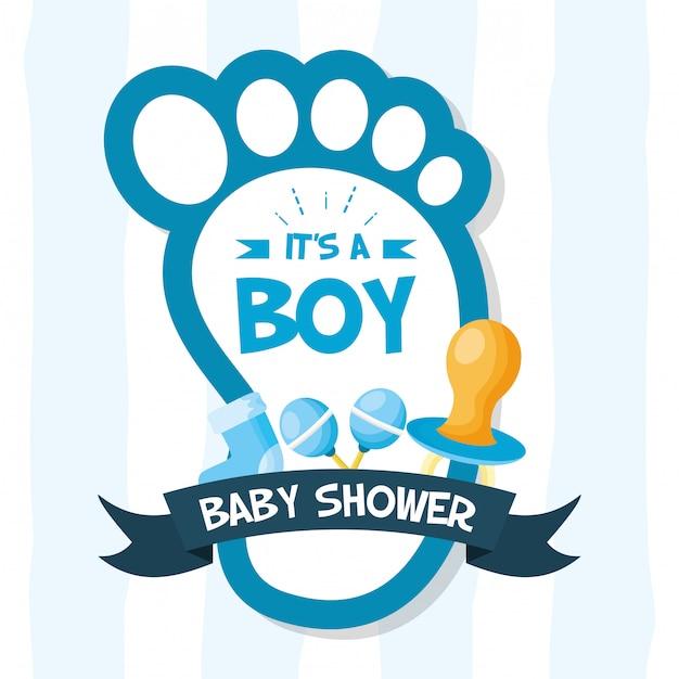 Ozdoba karty baby shower Darmowych Wektorów