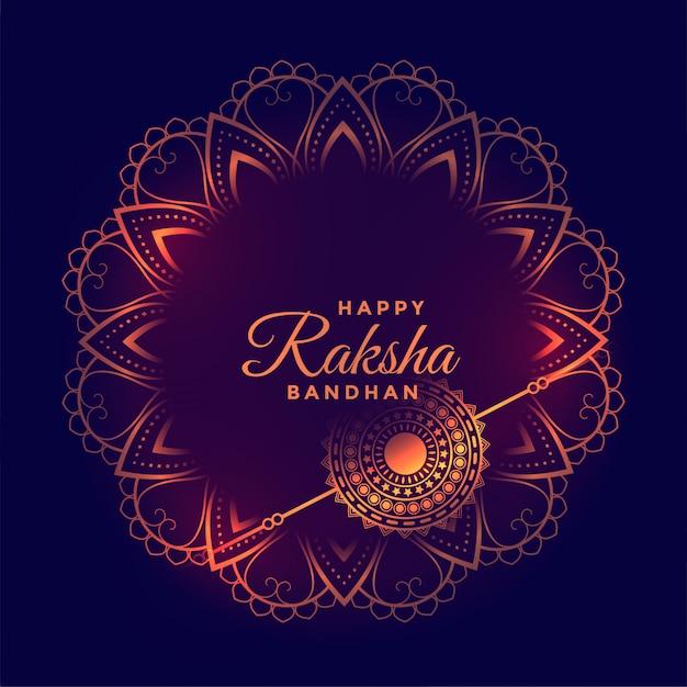 Ozdobna Karta życzeń Festiwalu Raksha Bandhan Darmowych Wektorów