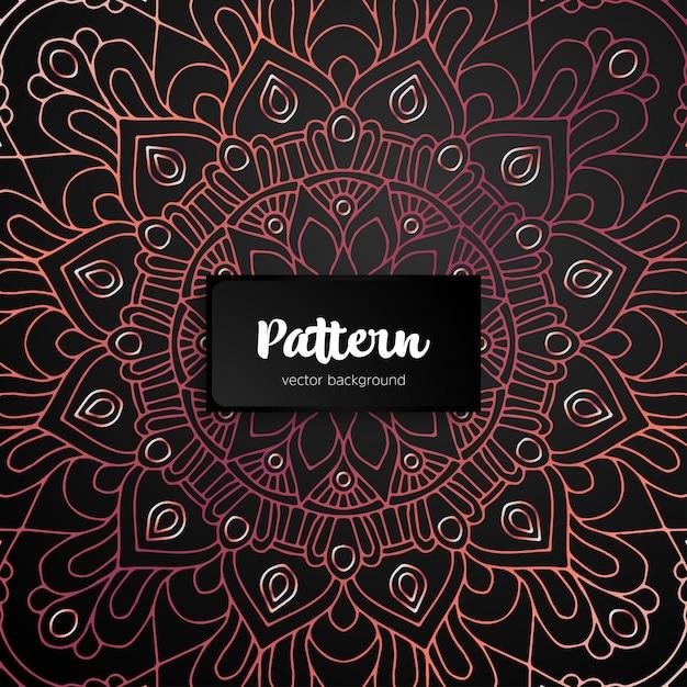 Ozdobna Mandala Inspirowana Sztuką Etniczną Premium Wektorów