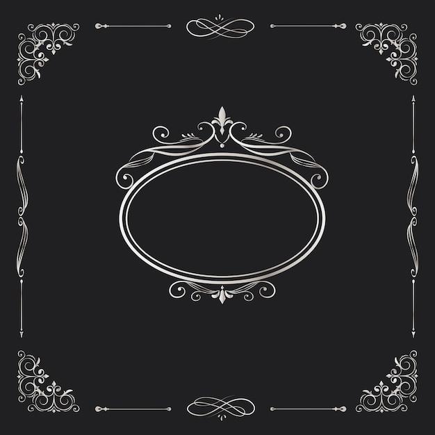 Ozdobny Ornament Kaligraficzne Wektor Darmowych Wektorów