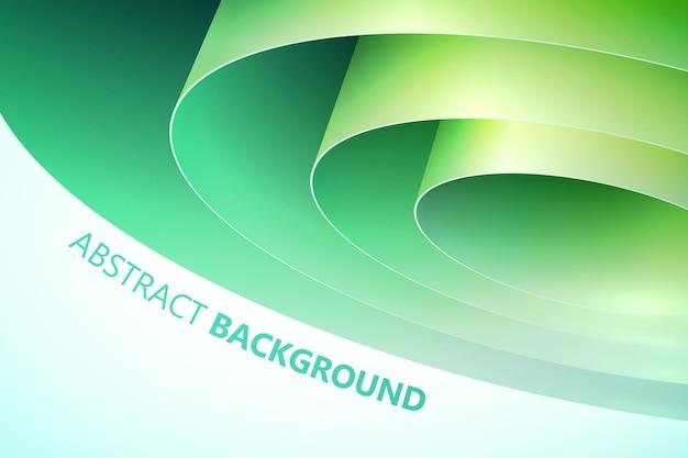 Ozdobny Streszczenie Szablon Z Zielonym Walcowanym Papierem Do Pakowania Na Białym Tle Darmowych Wektorów