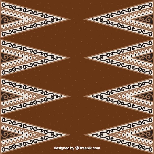 Ozdobnych Tle Batik Trójkątów Darmowych Wektorów