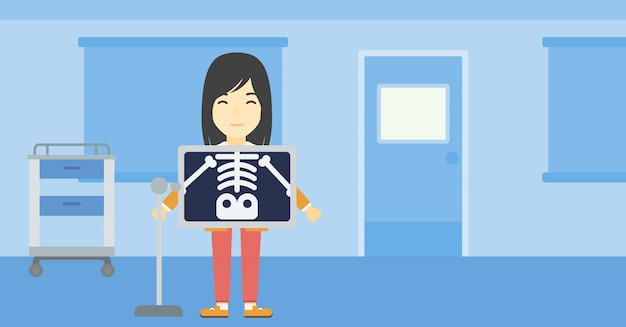 Pacjent Podczas Zabiegu X Ray Premium Wektorów