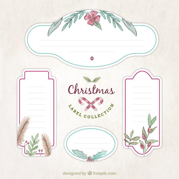Paczka Dekoracyjne Christmas Nalepki Z Kwiatu Szczegóły Darmowych Wektorów