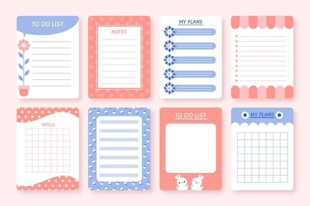 Paczka Notatek I Kartek Do Notatnika Darmowych Wektorów
