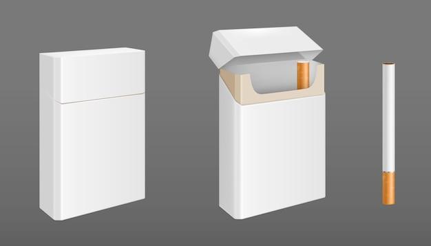 Paczka Papierosów Z Jednym Papierosem Darmowych Wektorów
