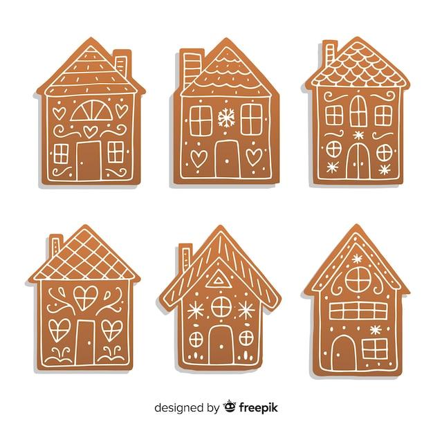 Paczka z gingerbread house Darmowych Wektorów