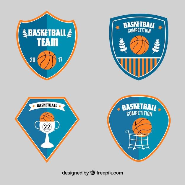 Paczka z tarczami koszykówki Darmowych Wektorów