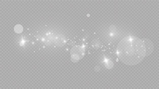 Padający śnieg Na Szaro, Wektor. świąteczna Pogoda. Tło. Blask Efekt świetlny Premium Wektorów