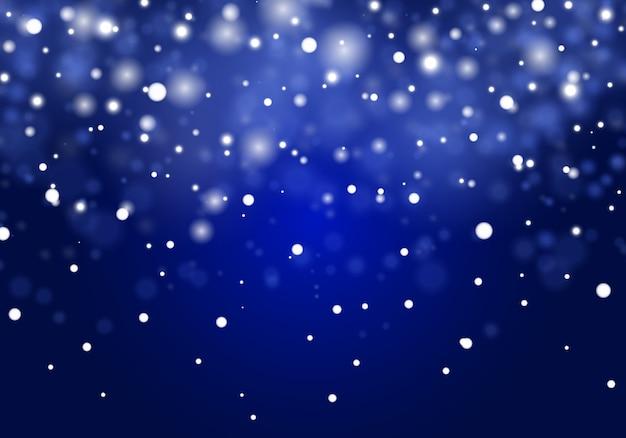 Padający świąteczny śnieg. Płatki śniegu, Duże Opady śniegu. Premium Wektorów