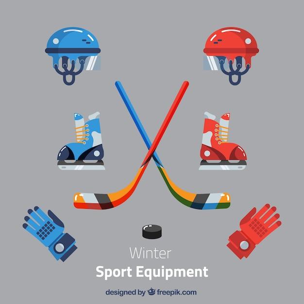 Pakiet Elementów Hokeja Darmowych Wektorów