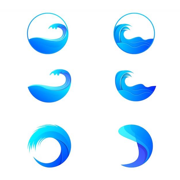 Pakiet Fal Oceanicznych Premium Wektorów