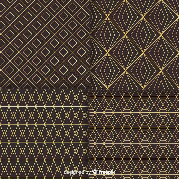 Pakiet geometryczny wzór luksusu Darmowych Wektorów