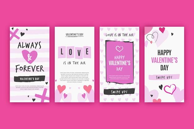 Pakiet Historii Sprzedaży Na Walentynki Darmowych Wektorów